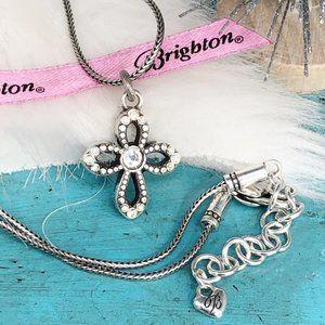 Brighton Faithful Crystal Reverses Cross Necklace